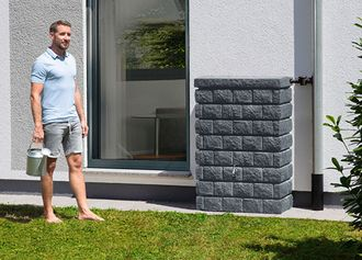 Rocky Junior Wandtank dark granite, 300-Liter-Gefäß