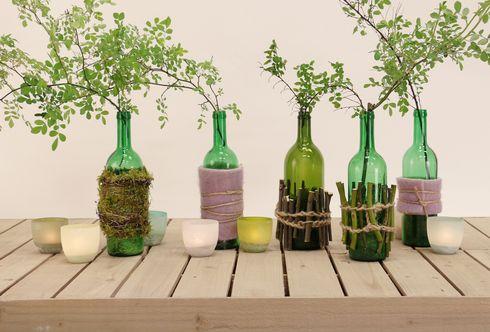 Upcycling - leere Flaschen schön verpackt