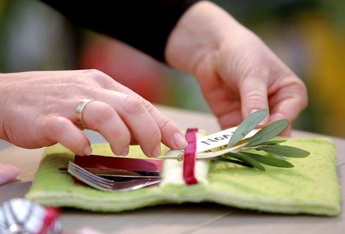 Tischdekoration - einfache Anregungen mit Effekt
