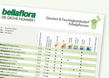 Feuchtigkeits-Kalender Kübelpflanzen